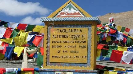 Tanglang Pass the second highest pass in the world