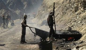road construction in the Himalayas