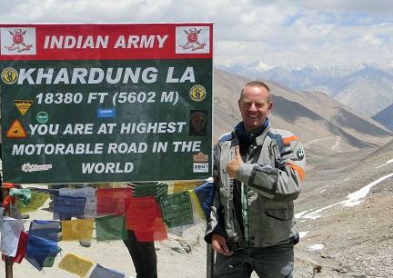 Khardong pass the highest pass in the world