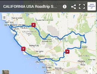 motorbike route California USA