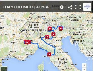 motorbike route Italy