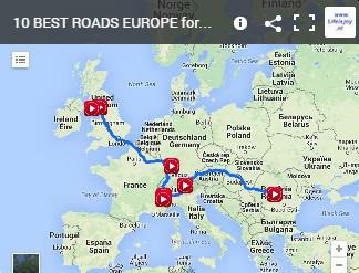 motorbike route top 10 best roads EU