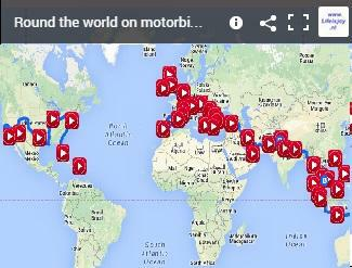 motorbike route round the world